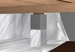 Crawl space encapsulation by ABT Foundatioan Solutions